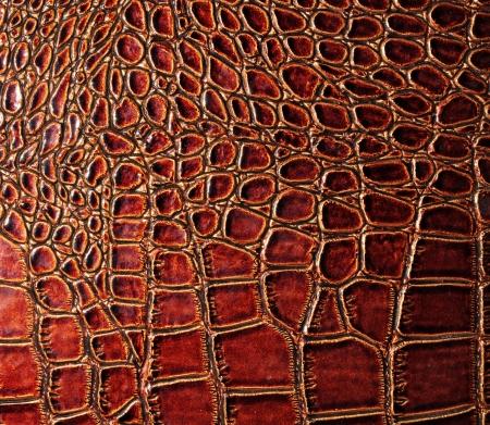 snakeskin: brownish red faux Crocodile skin texture