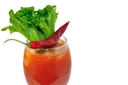 bloody mary on white background  photo