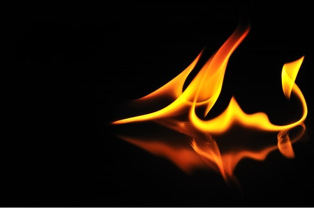 Abstract fiery dragon.  Stock Photo