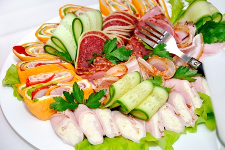 Different salads, snacks photo