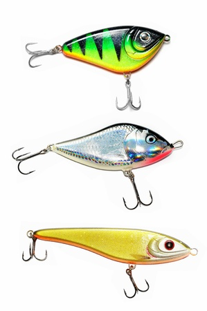 Fishing Lure (Wobbler) Isolated on White Background