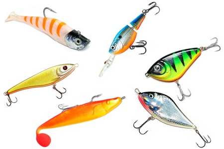 Fishing Lure (Wobbler) Isolated on White Background photo