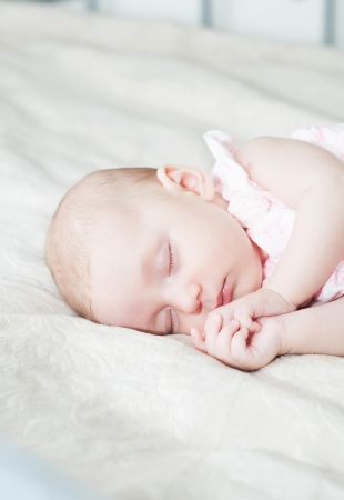 Portrait of a beautiful baby  photo