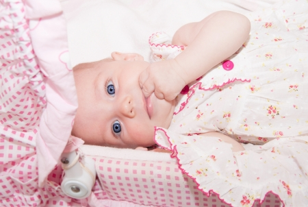 Portrait of a beautiful baby girl photo
