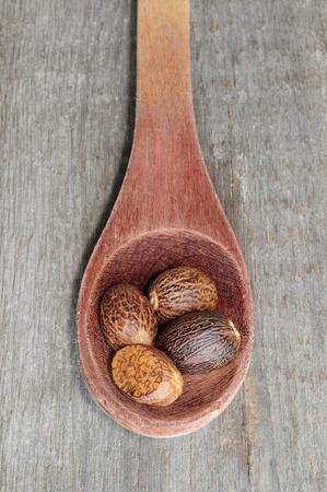 Nutmeg in spoon