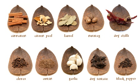 Spice collection on white background  photo