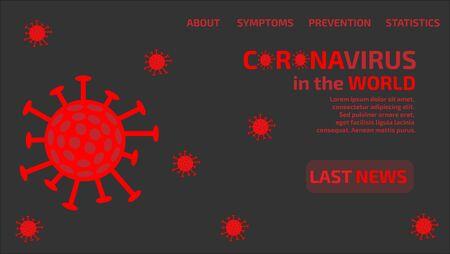 Coronavirus Latest News Page. Stock Illustratie