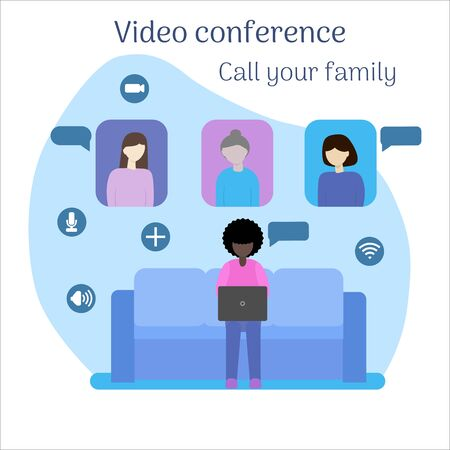Video conferencing under quarantine. Call your family.