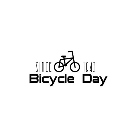 Illustration of Concept World bicycle day. Vector illustration - Vector.