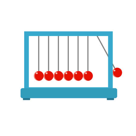 Newtons Cradle On White Background. Vector illustration. Stock Illustratie