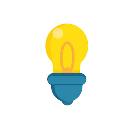 Vector illustration. Light bulb. Energy and idea symbol. Decoration for greeting cards, patches, prints for clothes, badges, posters.