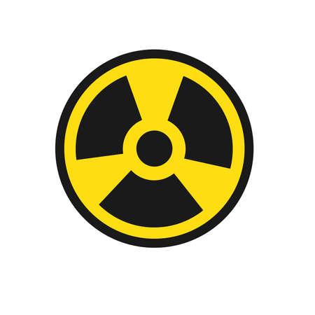 Vector symbols of radiation. Illustration in a flat. Çizim