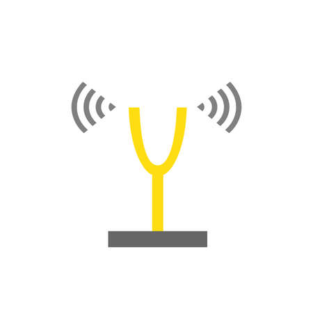 Illustration of tuning fork vector icon. Music equipment sign symbol.