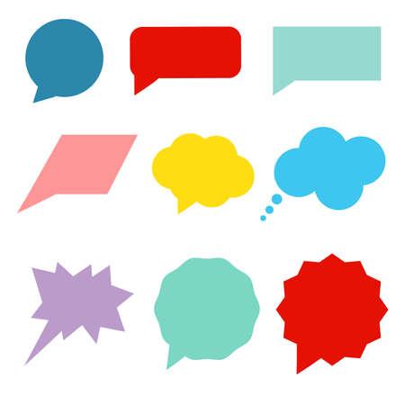 Set of colorful speech bubbles. Vector illustration.