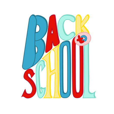 Back to school banner. Vector illustration on white background. Çizim
