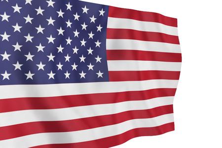 u.s. flag: usa flag on white background