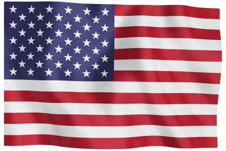 u s a: usa flag on white background