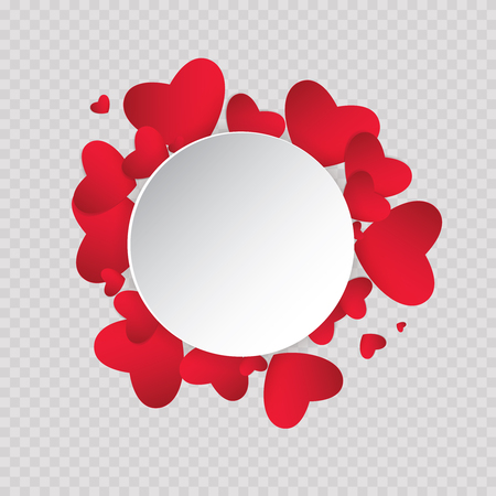 Vector illustration ard Happy Valentines Day. Love heart. Background With Hearts. Web graphics, banners, advertisements, stickers, labels, business templates. On a color background