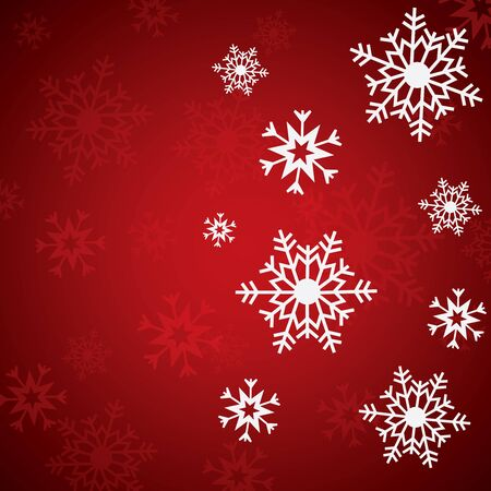 Winter white background Christmas made of snowflake and snow Ilustrace