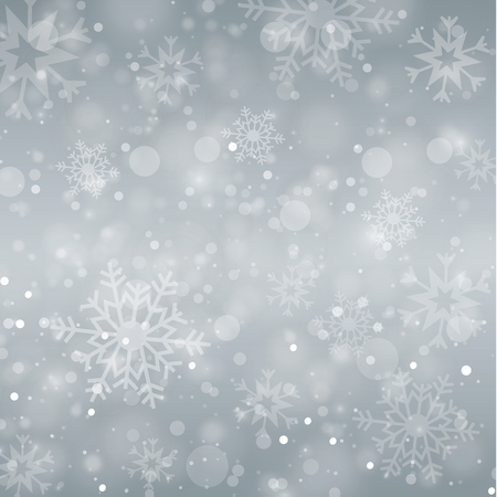 Winter white background christmas made of snowflake and snow with blank copy space for your text, Vector illustration Illustration