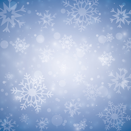 Winter white background Christmas made of snowflake and snow w