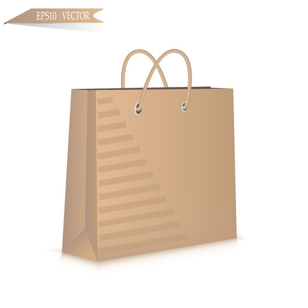Gift paper bag isolated on white background