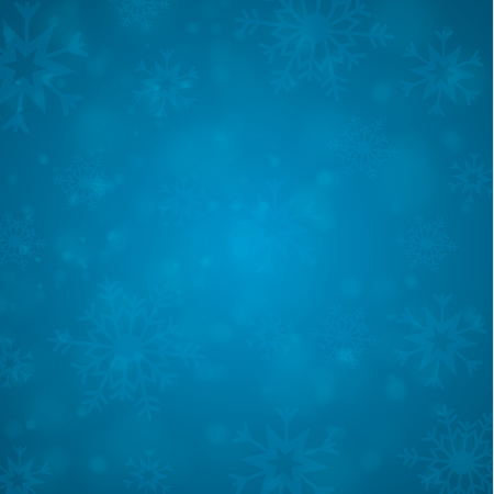 Winter white background christmas made of snowflake and snow with blank copy space for your text, Vector illustration. EPS 10