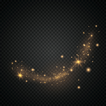 Glow light effect. Vector illustration. Christmas flash.Star dust. Decoration for advertising. EPS 10