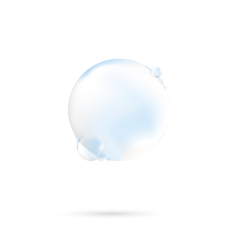 Vector Soap Water Bubbles. Transparent Isolated Realistic Design Elements. Can be used with any Background. 矢量图像