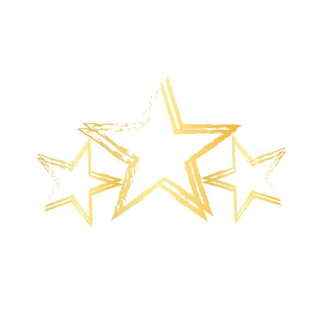 Textured Star used for stamps, banners. Star Icon. 矢量图像