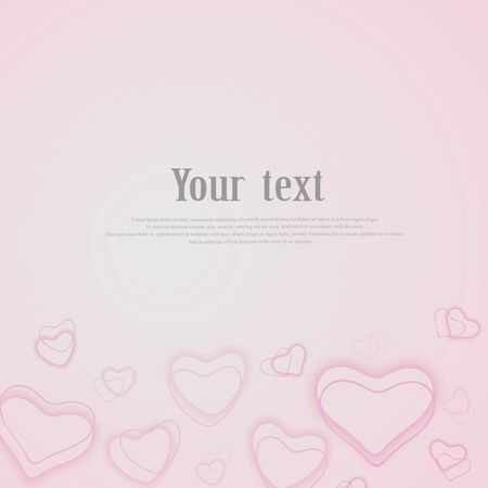 Valentine day background with hearts. pastel soft pink Abstract background made of hearts symbols bokeh with radial gradient 矢量图像