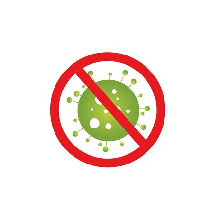 Stop the virus. Stop coronavirus. Crown virus icons. Separate on a white background. pandemic flu virus of the coronavirus. Vector.
