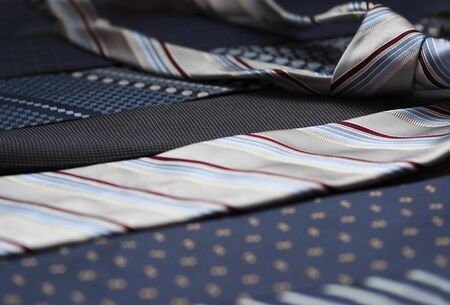 Concept of gentleman and necktie fashion, Shopping , fathers day.
