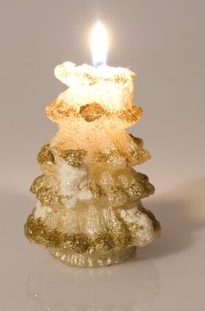 decored christmas candle firtree-shared photo