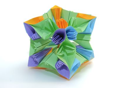 Colorfull origami unit