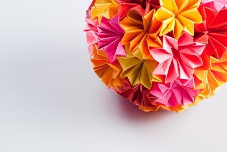 Colorfull origami kusudama from rainbow flowers on white warm colorfull origami kusudama from rainbow flowers on white warm stock photo picture and royalty free image image 7897557 mightylinksfo