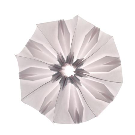 origami unit snowflake isolated on white background photo