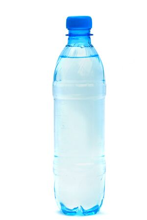 Mineral water bottle isolated on white background photo
