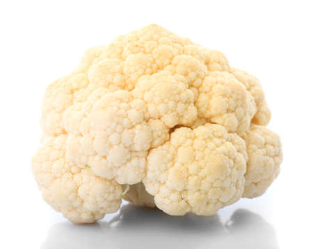 One cauliflower with isolated on white. Use for collage fireball  Stock Photo - 9681338