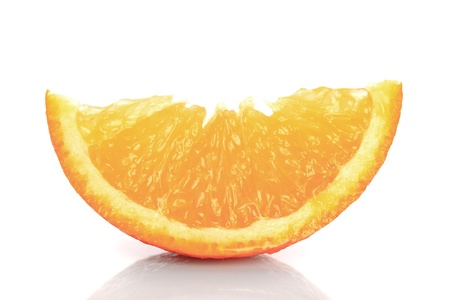 orange's parts isolated on white, prepared for juice Stock Photo - 9800884