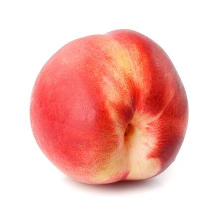 Fresh nectarine isolated on white background closeup Stock Photo - 10093199