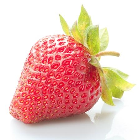 One fresh strawberry isolated on white  Stock Photo - 10309278