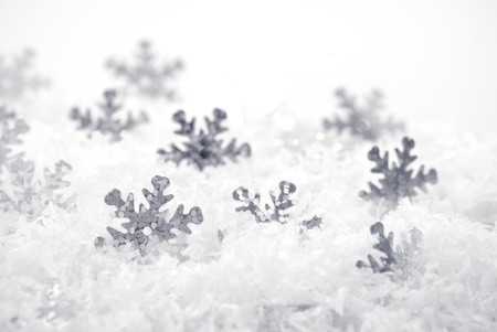 snowbank: Snow background with cover and snowflakes