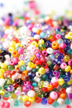 bead jewelry: abstract background of close up multi colored beads