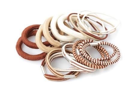Various elastic band isolated on white background Stock Photo - 12320669