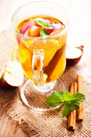 Apple and cinnamon tea photo