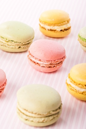 Colorfull macaroones in row close up Stock Photo - 12830268