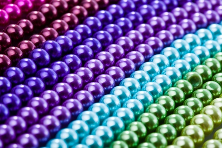 Blue beads necklace closeup background photo