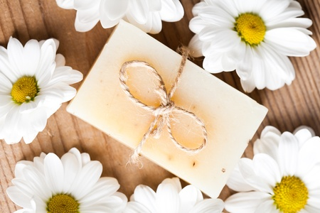 Natural cosmetics concept: soap for hands photo