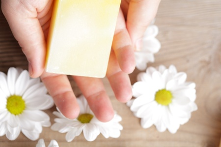 Natural cosmetics concept: soap for hands Stock Photo - 12891313